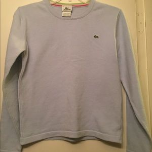 Lacoste Light Blue Sweater Size 10
